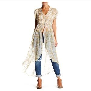 Free People Lady of Avalon Floral Tunic